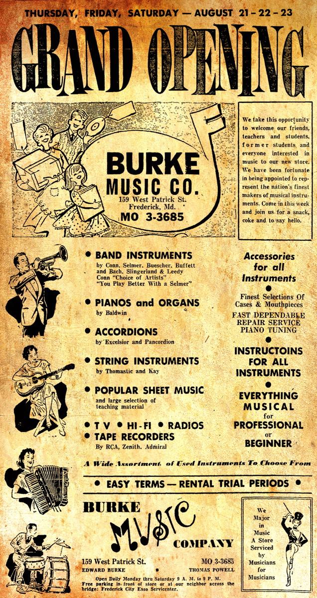 Burke Music Company 1958